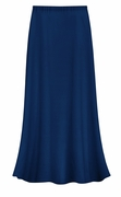 CLEARANCE! Solid Navy Color Slinky Plus Size Supersize Skirt 0x 1x 3x
