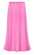 SOLD OUT! CLEARANCE! Solid Pink Color Slinky Plus Size Supersize Skirt 3x