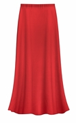 CLEARANCE! Solid Red Color Slinky Plus Size Supersize Skirt 4x