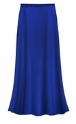 SOLD OUT! CLEARANCE! Solid Royal Blue Color Slinky Plus Size Supersize Skirt 2x