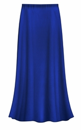 CLEARANCE! Solid Royal Blue Color Slinky Plus Size Supersize Skirt 2x 3x