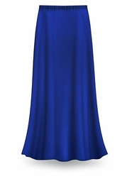 CLEARANCE! Solid Royal Blue Color Slinky Plus Size Supersize Skirt 2x