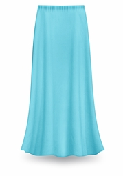 CLEARANCE! Solid Turquoise Color Slinky Plus Size Supersize Skirt 1x 3x