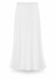 CLEARANCE! Solid White Color Slinky Plus Size Supersize Skirt 2x