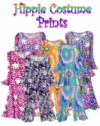 SALE! Certain Sizes ONLY! Plus Size Hippie Costume Print - 60's Style Retro Moo-Moo Dress or Top & Bell-Bottom Pant Set Plus Size & Supersize Hippie Halloween Costume Kit 0x 1x 2x 3x 4x 5x 6x 7x 8x 9x