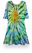 SALE! Spring Meadows Tie Dye Supersize X-Long T-Shirt 0x to 8x