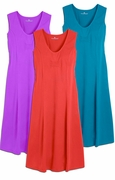 SALE! Grape, Strawberry or Turquoise Plus Size Tank Mid Length Dress 4x 5x