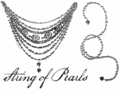 SALE! String of Pearls Necklace Plus Size & Supersize T-Shirts  S M L XL 2x 3x 4x 5x 6x 7x 8x (Darks Only)