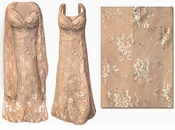 SALE! Stunning Beige & Silver Lace 2 Piece Plus Size SuperSize Princess Seam Dress Set 4x 5x