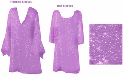 FINAL SALE! Stunning Lavender & Silver, Magenta, or Blue Glimmer Plus Size Supersize Shirt 4x