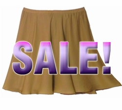 FINAL SALE! Tan Plus Size Georgette Full Skirt 30w 32w 34w 3x 4x 5x 6x