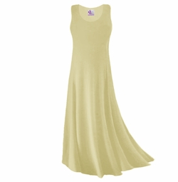 CLEARANCE! Tan Or Cream Slinky Plus Size & Supersize Tank Dress 0x 1x 4x