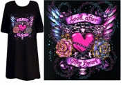 "SALE! Tattoo Prints! ""Look After my Heart"" Plus Size & Supersize T-Shirts 3xl"