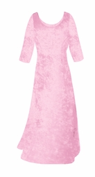 SALE! Very Light Pink Crush Velvet Plus Size & Supersize Sleeve Dress XL