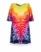 CLEARANCE! Volcano Tie Dye Plus Size T-Shirt XL