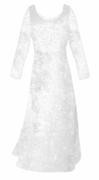 SALE! White Crush Velvet Plus Size & Supersize Sleeve Dress 2x 3x