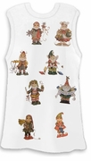 SALE! Santa's Little Elves Cute White Plus Size Tank Top 2x