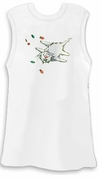 SALE! Shocking Christmas Xmas Kitty White Plus Size Tank Top 2x 3x 4x
