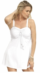SALE! White Tassel Plus Size Swimdress 3x 4x 5x