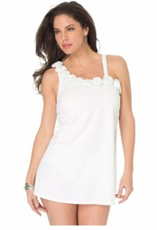 SALE! White Rosette Plus Size Swimdress 3x 4x 5x