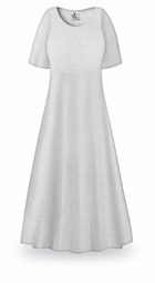 SALE! White with Silver Glimmer Slinky Plus Size Supersize Sleeve Dress 0x 2x
