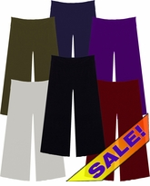 SALE! Just Added! Slinky Wide Leg Palazzo Pants Many Colors with Elastic Waist  Plus Size & Supersize  XL 0x 2x