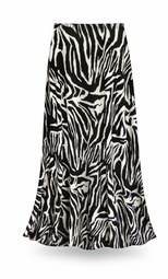 CLEARANCE! Zebra Print Slinky Plus Size Supersize Skirt 4x