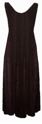 Simply Lovely Solid Dark Brown Plus Size Slinky Tank Dress 1x 2x 3x 4x 5x 6x 7x 8x 9x