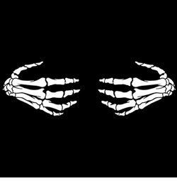 Skeleton Hands  Plus Size & Supersize T-Shirts S M L XL 2xl 3xl 4x 5x 6x 7x 8x (Darks Only)