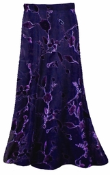 Skirts! Stunning! Sheer Black & Purple Velvety Flocked Customizable Plus Size & Supersize Sheer Skirts! Lg XL 1x 2x 3x 4x 5x 6x 7x 8x