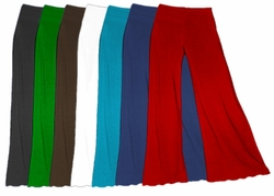 SLINKY or Velvet Colors! Wide Leg Palazzo Pants Plus Size & Supersize Solid Color XL 0x 1x 2x 3x 4x 5x 6x 7x 8x 9x