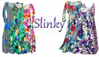 Slinky Plus Size Dresses - Slinky Plus Size Tops - Slinky Plus Size Pants - Slinky Plus Size Jackets - Slinky Plus Size Skirts - Slinky Plus Size Palazzo Pants