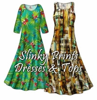 Slinky Prints - Dresses, Jackets & Tops Plus Size & Super Size Lg to 9x