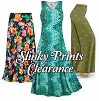 Slinky Prints - CLEARANCE Plus Size & Super Size Lg to 9x