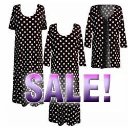 SOLD OUT! Black & White Big Dots Plus Size Supersize Slinky Dress Shirts or Jackets Lg XL 0x 1x 2x 3x 4x 5x 6x 7x 8x 9x