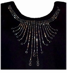 SALE!!! Cascading Rhinestone Neckline Plus Size T-Shirts Many Colors! M 2XL 4XL 3X