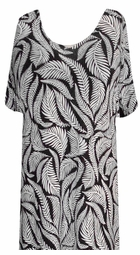 SALE! CLEARANCE! Black & White Fern Slinky Plus Size Shirt 4x
