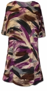 SALE! Pretty Brown, Purple and Black Graphic Print Plus Size & Supersize T-Shirts 0x