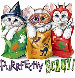 SALE! Purrfectly Scary Cat Halloween Kitty's Plus Size T-Shirts 1xl 2xl