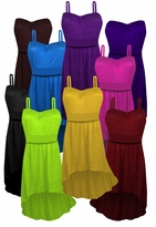 Customizable Solid Color Slinky Strapped Cascading Made To Order Plus Size & Supersize Tops & Dresses 0x 1x 2x 3x 4x 5x 6x 7x 8x 9x