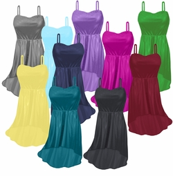 Customizable Slinky Strapped Cascading Plus Size & Supersize Tops & Dresses Large to 9x