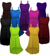 Solid Color Slinky Strapped or Strapless Cascading Made To Order Plus Size 5x