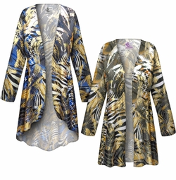 SALE! Customizable Metallic Zebra Slinky Print Plus Size & Supersize Jackets & Dusters - Sizes Lg XL 1x 2x 3x 4x 5x 6x 7x 8x 9x