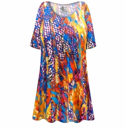 SALE! Customizable Color Infusion Slinky Print Plus Size & Supersize Short or Long Sleeve Shirts - Tunics - Tank Tops - Sizes Lg XL 1x 2x 3x 4x 5x 6x 7x 8x 9x