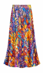 SALE! Customizable Color Infusion Slinky Print Plus Size & Supersize Skirts - Sizes Lg XL 1x 2x 3x 4x 5x 6x 7x 8x 9x
