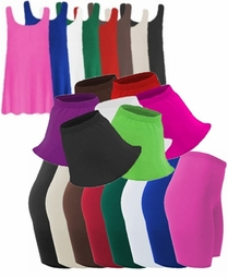 Spandex Plus Size Swim Shorts - Skirts & Tanks Lg to 9x Supersize Many Colors!!