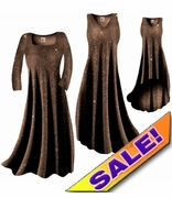 SALE! Sparkly Copper Gold Glitter Slinky Plus Size & Supersize Dresses Jackets & Shirts 1x 4x