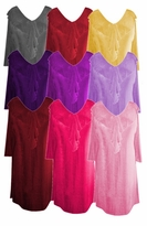 SALE! Stylish Solid Colors Ruffled V-Neckline Plus Size & Supersize Slinky Top 0x 1x 2x 3x 4x 5x 6x 7x 8x 9x