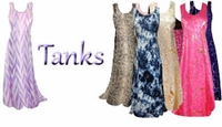 Tank Dresses - Princess Cut & A-Line Sleeveless Plus Size & Supersize Tank Dresses