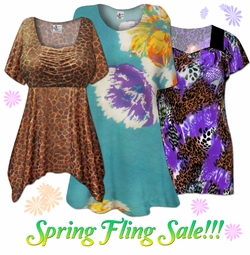 Spring Fling Plus Size Tops on Sale!